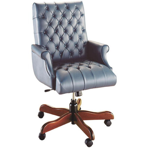 Our Quick Ship Scoop Traditional Executive Swivel Chair with Fully Upholstered Arms is on sale now.