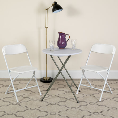 Our HERCULES Series 100 Pack 650 lb. Capacity Premium Plastic Folding Chair is on sale now.