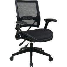 Space Air Grid® Back and Seat Managers Chair with 4 Lever Multi Function - Black