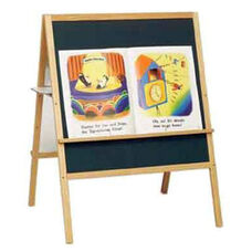 Multi-Task Solid Oak Wood Frame Easel with Storage Tray