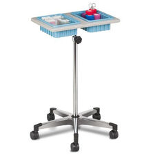 Mobile Phlebotomy Stand with ClintonClean™ Plastic Top and Two Removable Drop In Storage Bin