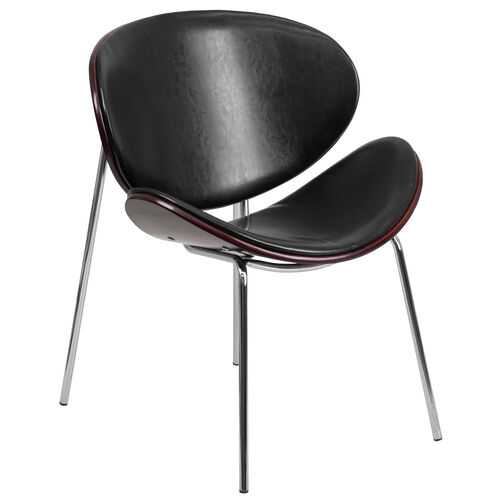 Our Mahogany Bentwood Leisure Side Reception Chair with Black LeatherSoft Seat is on sale now.
