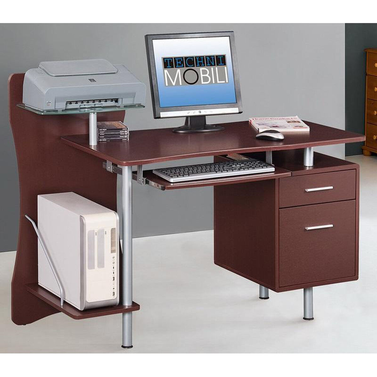 Our Techni Mobili Computer Desk Chocolate Is On Now