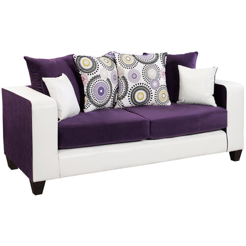 Our Riverstone Implosion Purple Velvet Sofa is on sale now.
