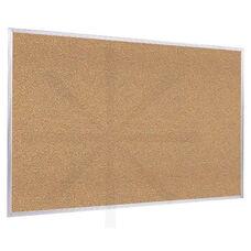 Aluminum Framed Natural Self-Healing Cork Bulletin Board - 18