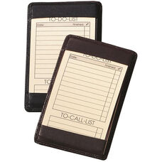 Note Jotter - Top Grain Nappa Leather - Black