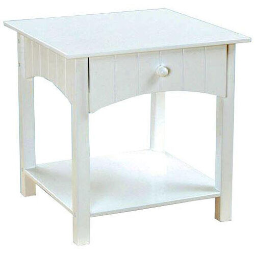 Our Nantucket Wooden Low Height Toddler Side Table with Storage Drawer - White is on sale now.