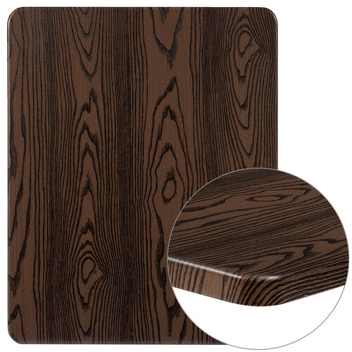 """Our 24"""" x 30"""" Rectangular Rustic Wood Laminate Table Top is on sale now."""