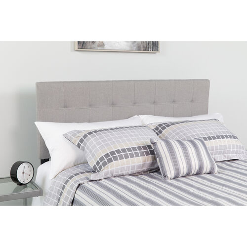 Our Bedford Tufted Upholstered Full Size Headboard in Light Gray Fabric is on sale now.