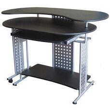 Regallo Expandable L Computer Desk - Black