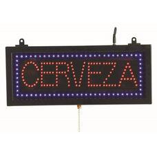 High Visibility LED CERVEZA Sign - 6.75