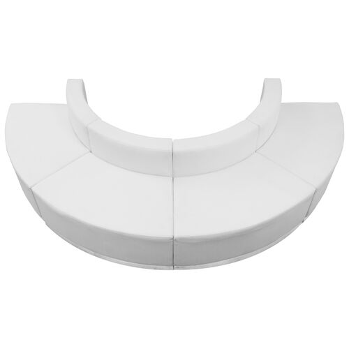 Our HERCULES Alon Series Melrose White Leather Reception Configuration, 4 Pieces is on sale now.