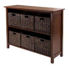 Granville 7-Pc Storage Shelf with 2 Sections and 6 Foldable Baskets