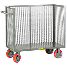Steel Frame Bulk Truck with 3 Enclosed Perforated Sides - 30