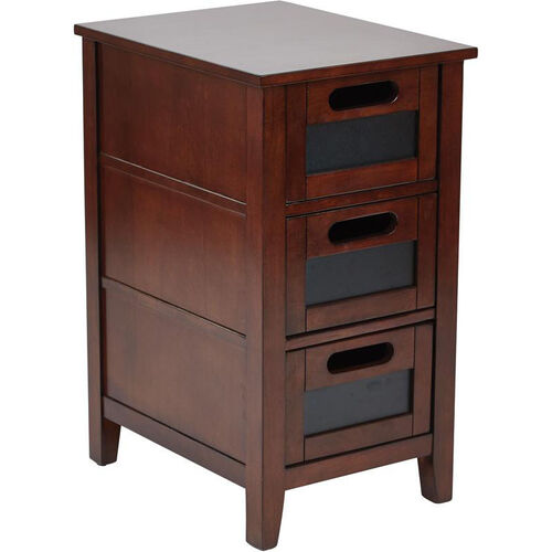 Our OSP Designs Avery Chair Side Table - Saddle is on sale now.