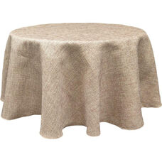 90'' Round Polyester Table Cloth - Burlap