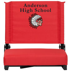 Embroidered Grandstand Comfort Seats by Flash with Ultra-Padded Seat in Red