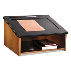 Safco® Tabletop Lectern - 24w x 20d x 13-3/4h - Medium Oak/Black
