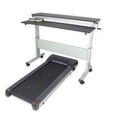 Heavy Duty Steel Framed Adjustable Height Stand-Up Treadmill Desk with Shock Absorbing Treadmill - 70.5