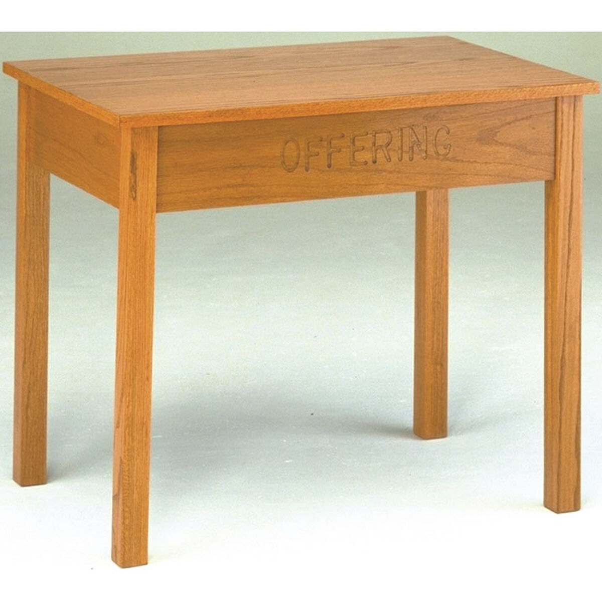 Our Stained Red Oak Offering Table With Storage Drawer Is On Now