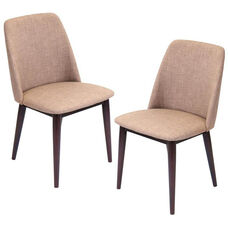 Tintori Dining Chairs in Medium Brown - Set of 2