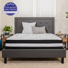 Capri Comfortable Sleep 12 Inch Foam and Pocket Spring Mattress, Full Mattress in a Box