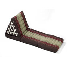 Triangle Yoga and Meditation Lounger - Brown and Burgundy