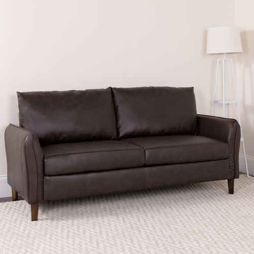 Our Milton Park Upholstered Plush Pillow Back Sofa is on sale now.