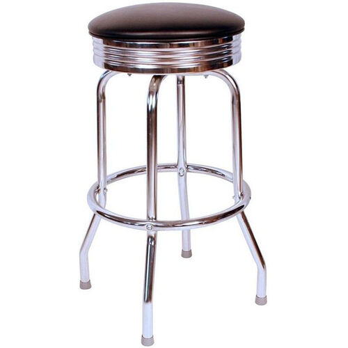 Our Retro Style Backless Swivel Bar Stool with Chrome Frame and Padded Seat is on sale now.