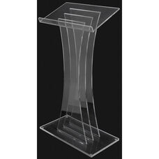 Contemporary Clear Acrylic Lectern - 26.75