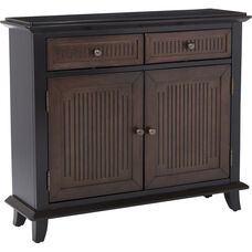 Inspired by Bassett Burton Storage Cabinet - Black