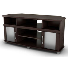 City Life Collection Corner TV Stand Chocolate