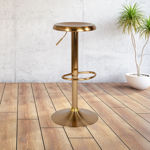 Our Madrid Series Adjustable Height Retro Barstool in Gold Finish is on sale now.