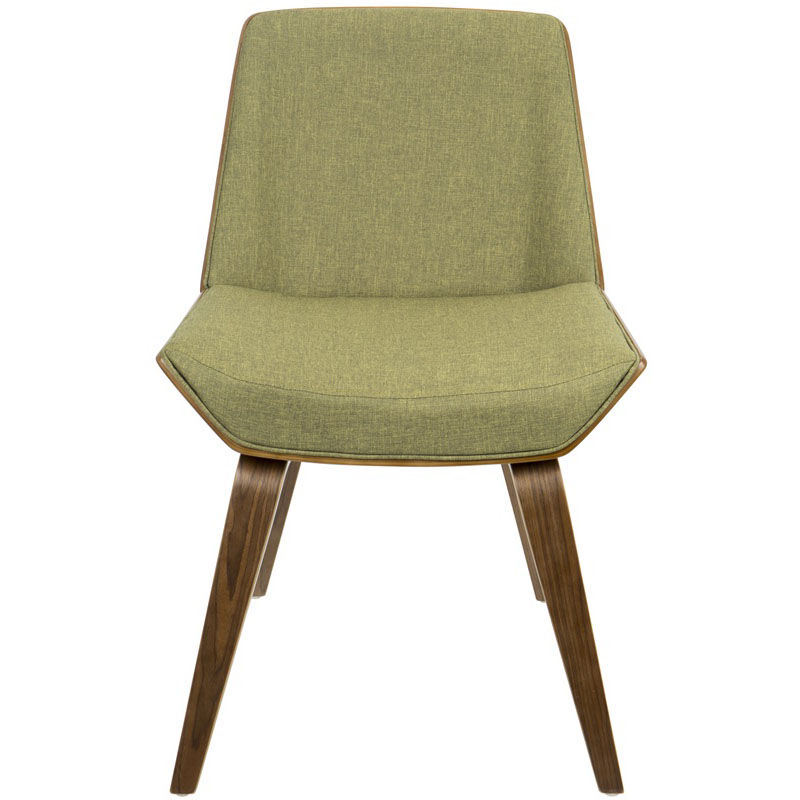 ... Our Corazza Mid-Century Modern Fabric 17.5u0027u0027H Dining Chair with Walnut Accents ...  sc 1 st  Bizchair.com & Corazza Green Chair CH-CRZZ-WL-GN | Bizchair.com