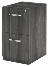 Aberdeen 15.25'' W x 26.5'' D x 27.5'' H File File Desk Pedestal - Gray Steel