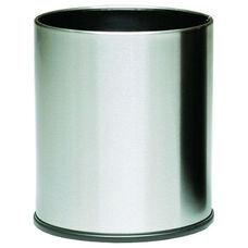 4 Gallon Executive Indoor Wastebasket - Stainless Steel