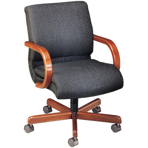 Our Quick Ship 1200 Series Management Swivel Chair with Wood Arms is on sale now.