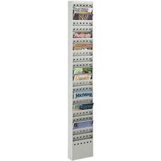 Easy to Mount Twenty-Three Steel Pocket Magazine Rack - Gray