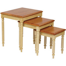 OSP Designs Country Cottage 3-Piece Nesting Table Set