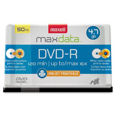 Maxell Printable White Matte Dvd-Rpw Spindle - Pack Of 50