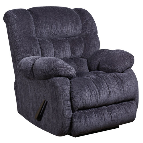 Our Contemporary Columbia Indigo Blue Microfiber Rocker Recliner with Thick Tufted Back is on sale now.