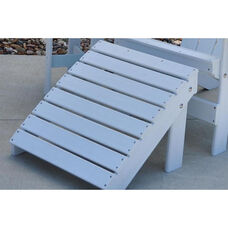 Traditional Recycled Plastic Adirondack Ottoman in White