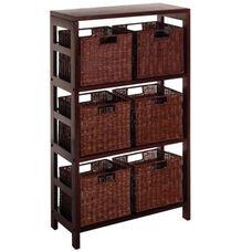 Leo 7-Pc Storage Shelf and Baskets