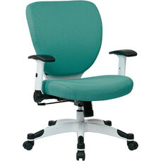 Space Pulsar Fabric Seat and Back Managers Office Chair - Dove Jade