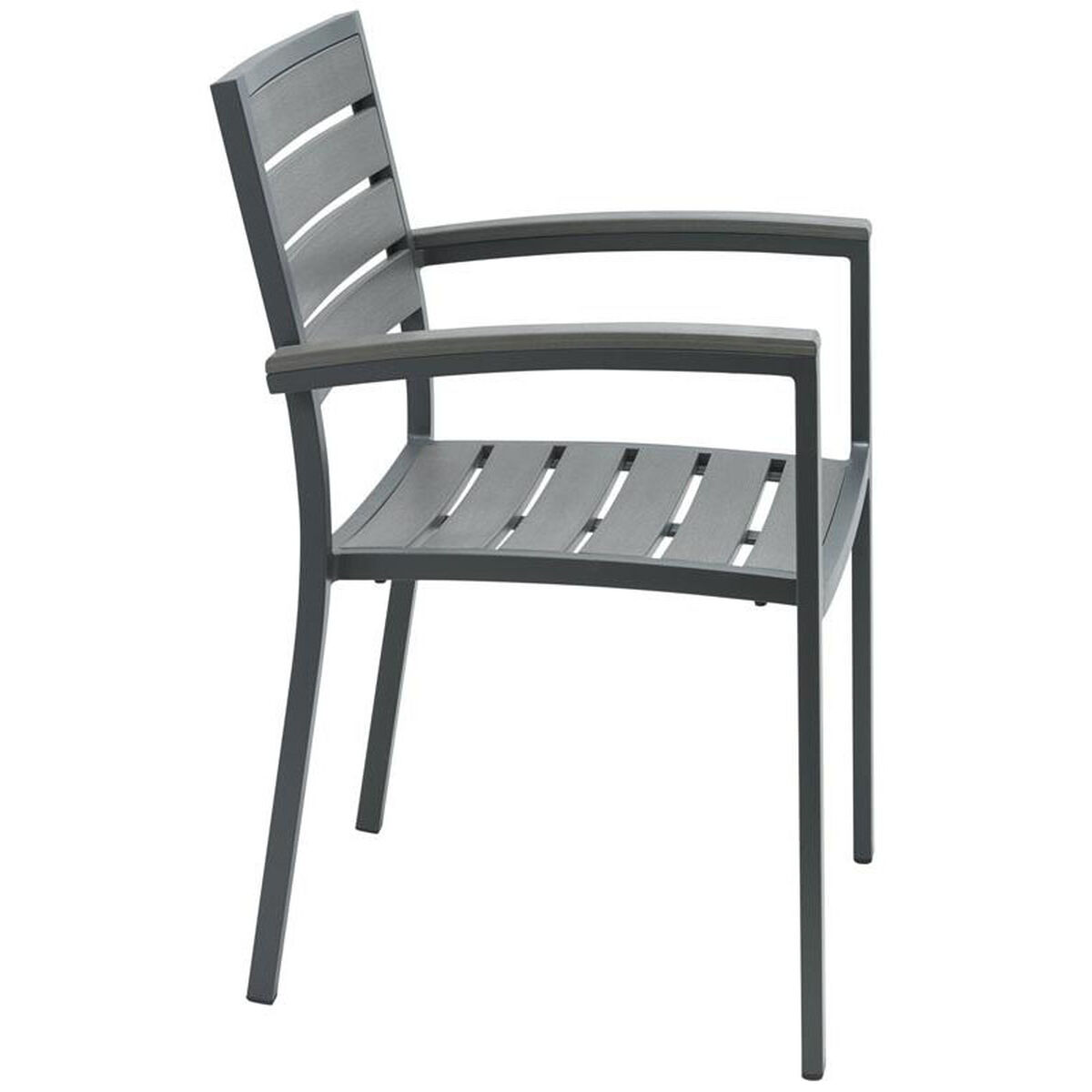 Kfi Seating Eveleen Aluminum Outdoor Arm Chair With