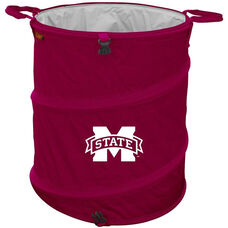 Mississippi State University Team Logo Collapsible 3-in-1 Cooler Hamper Wastebasket