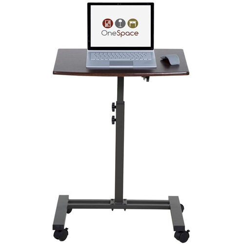 OneSpace Adjustable Mobile Laptop Computer Cart - Single Surface
