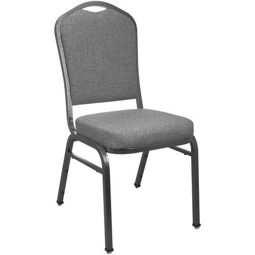 Advantage Premium Charcoal Gray Crown Back Banquet Chair