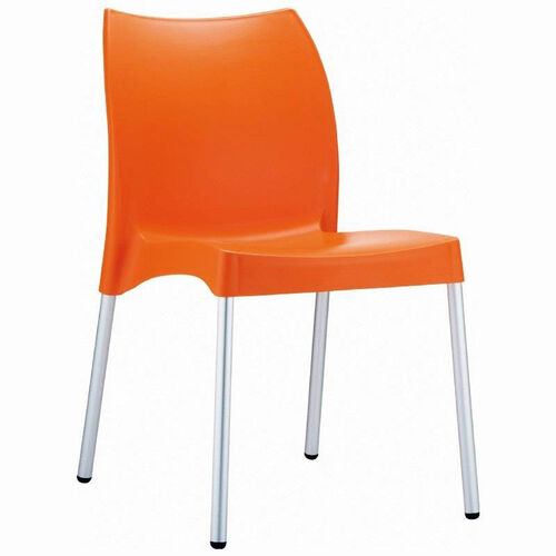 Our Vita Outdoor Resin Stackable Dining Chair with Aluminum Legs - Orange is on sale now.