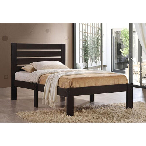 Our Kenney Slatted Wood Bed - Twin - Espresso is on sale now.